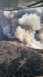 The Stickpin Fire has burned 2,000 acres so far. Photo courtesy of Jay Jurgensen