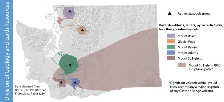 Summary of volcanic hazards in Washington state