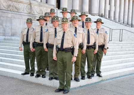 Group photo of DNR's police force