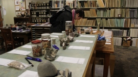 Rock hounds can add to their collections today at the Washington Geologic Survey's annual rock auction. The auction is in the Washington Geology Library, 1111 Washington St. SE, room 148, Olympia WA. DNR Photo