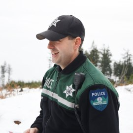 Last week, DNR Natural Resources Police officer Jason Bodine was able to assist five hikers to safety as night fell around them. It's a good reminder of how quickly a situation can become serious. Photo/ DNR.