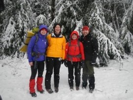 Snowshoers enjoy Tahoma State Forest. Photo courtesy of MTTA.