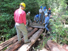 SWITMO volunteers give back to DNR-managed lands on Anderson Mountain. Photo courtesy SWITMO.