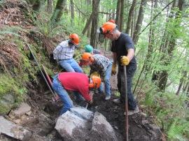 SWITMO caring for trails on Blanchard Mountain. Photo courtesy SWITMO.