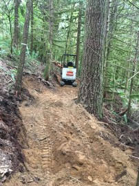 Beginning stages of trail building on North Mountain near Darrington. Photo courtesy Evergreen Mountain Bike Alliance.