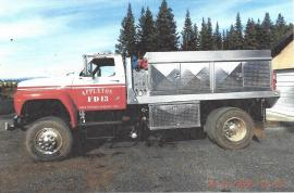 This is an example of what the fire engine will look like once Spokane Fire District #5 converts their old truck (above).
