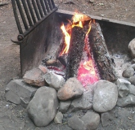 Keep campfires small so you can put them out immediately when the wind picks up. Photo DNR
