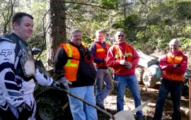Jones Creek Trails Riders Association during a work party. DNR photo.