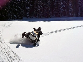 Snowmobiling in DNR's Ahtanum State Forest. DNR photo.
