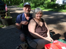 Ed and Wanda at Dougan Creek Campground