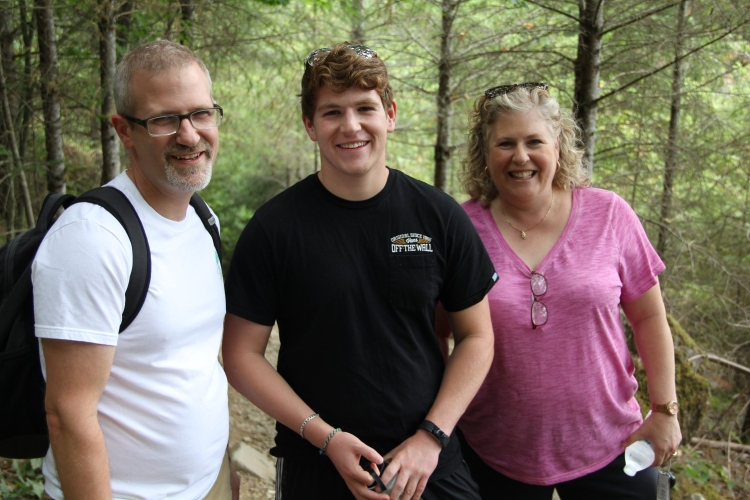 A visiting family on the Little Si Trail.