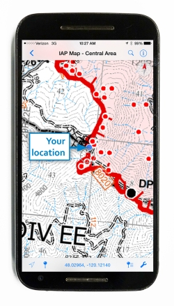 Avenza Maps on a smart phone