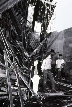 Photograph from the Seattle Times showing damage to Puyallup High School during the 1949 Olympia earthquake